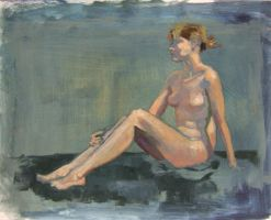 nude study in oil by zyphryus