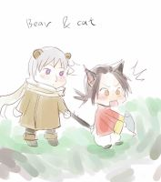 APH bear Ivan and cat Yao by Shandyrun