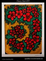 Cherry Swirl ATC 39 by Quaddles-Roost