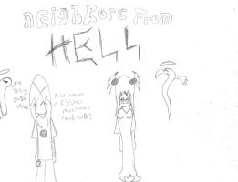 neighbors from Hell sketch one by Weirdolod