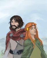 Banner Saga ~ Rook and Alette by BrandyWoods