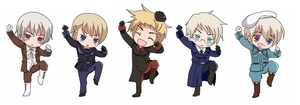 Chibi Nordics by animelover4242456