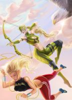 Artemis Crock and Wonder Girl by Goshadude89