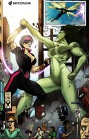Big Sister Battles Gaia the Giantess by giantess-fan-comics