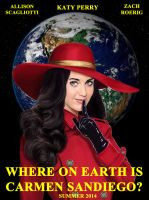 Where On Earth is Carmen Sandiego Movie Poster by Mark35950