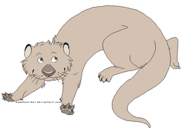 Otter Lineart : FREE USE by kadeKANNIBAL