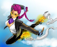 Crimson Viper COLORED by Lightning-Powered