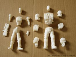 3D printed soldiers parts by hauke3000