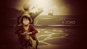 Luffy and Zoro Desktop Wallpaper (One Piece) by WHU-Dan