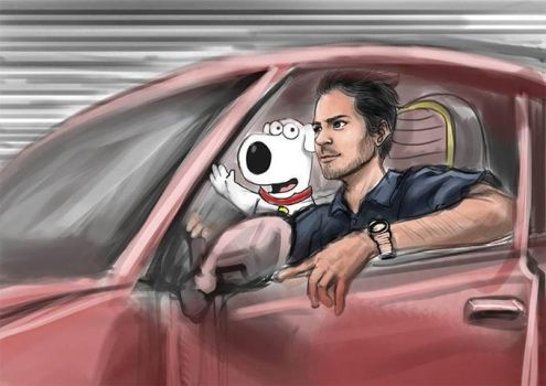 RIP Paul Walker and brian Griffin by niqwoz
