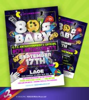 80s Retro Party Flyer by AnotherBcreation