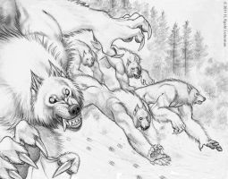 Wild Hunt - Sketch by kyoht