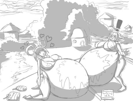 Oil Me Up beach time 2 by shydude