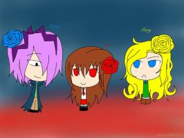 Chibi Garry and Ib! ...and Mary... by LucarioZelda2000
