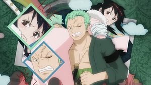 One Piece: Zoro and Tashigi by xMissEllax