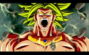 Angry Broly - Wallpaper by Link-LeoB