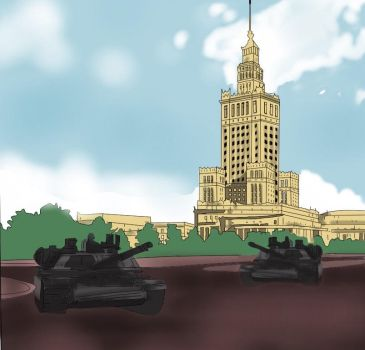 Commission - Tanks in Warsaw by Angels-are-here