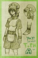 Older Toph in Pencil by tui-and-la