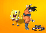 Son Goku and SpongeBob for Super Smash Bros. by DarkraDx