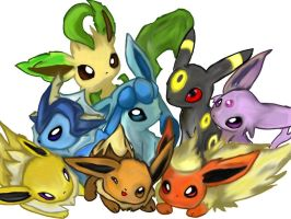 Eeveelutions by cartoonlovinggal