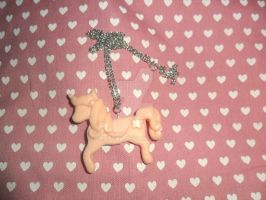 pastel pink unicorn necklace by Druovna