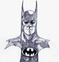Michael Keaton as Batman by DerekDwyer