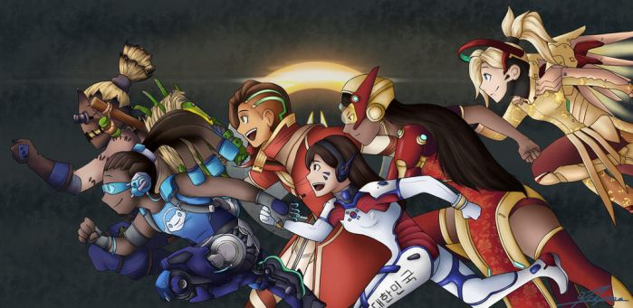 Overwatch Team by Meilyna