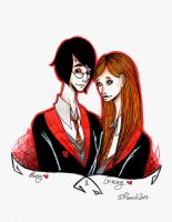 Harry and Ginny by NightGH0st