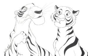 Shere Khan and Rajah by TheRaineDrop