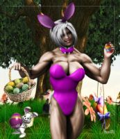 Easter Bunny, Saturn by Stone3D
