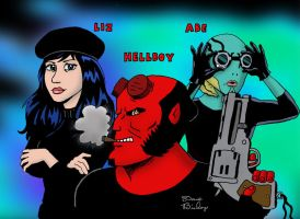 Red, Blue and Sparky by rocketdave
