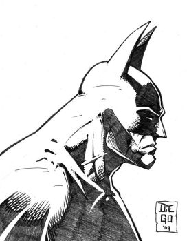 Sketching 001 - Batman by Diego-Rodriguez