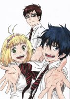 Ao no exorcist- friends by kazekage121
