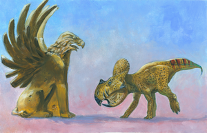Protoceratops and Griffin by dewlap