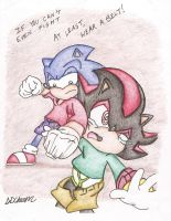 Shadow: Punched by Sonic (Request) by SDCharm
