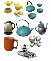 tea set by darkadathea