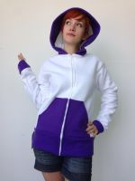 Rarity Fleece Cosplay Hoodie - Front by Weeaboo-Warehouse