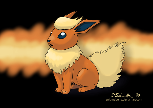 136 Flareon by EnigmaBerry