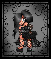 Gothic chibi (commission) by jazzy2cool