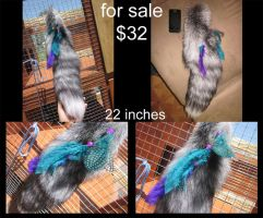 SOLD - personal fox tail by AnarchyWolfKira