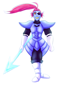Undyne the heroine by AthinaChan