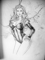 Poison Ivy Sketch by JESUSMORALES