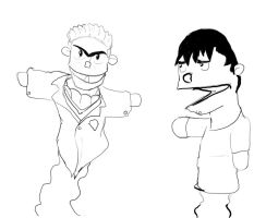 Jr and Senior puppets sketch by tunafrank