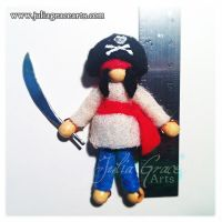 Pirate Captain Pocket Doll - Measure by JuliaGraceArts