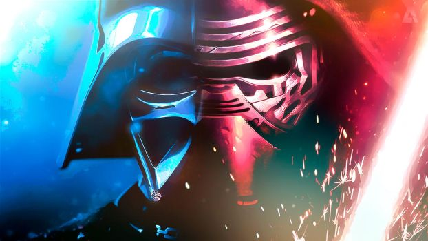 Kylo Ren and Darth Vader | Wallpaper by TobimoYD