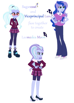 Sugarcoat and Viceprincipal Luna fusion by MeowWoofOink
