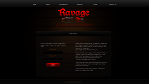 Mafia style login - Ravage City by Kinetic9074