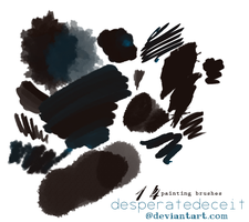 Painter's Pad PS Brushes by desperatedeceit