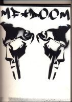 Stencil Hip-Hop Series:MF-DOOM by DUXZ