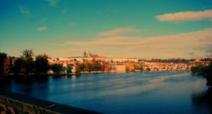 prague river view by StillWilde